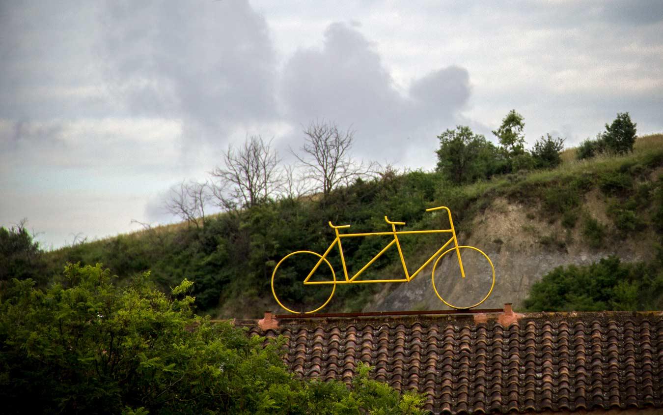 bicicleta groga rec igualada