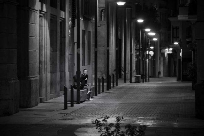 carrer santa maria igualada llum de nit