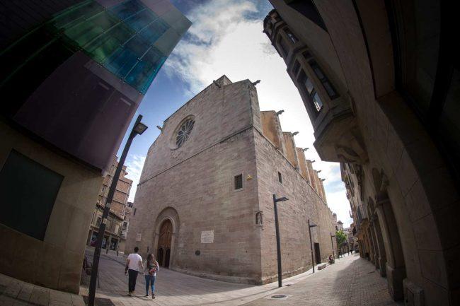 carrer santa maria igualada vista panoràmica basílica santa maria